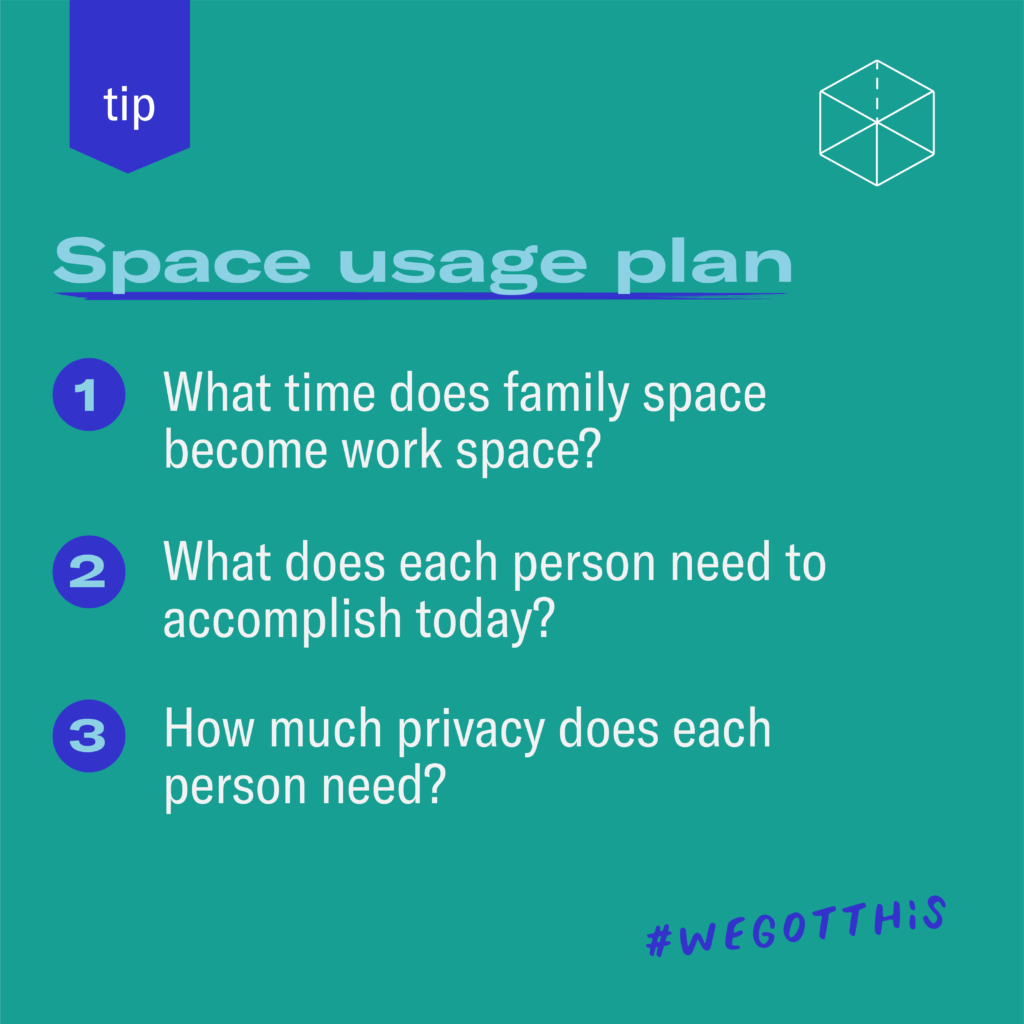 Space usage plan for families during COVID-19