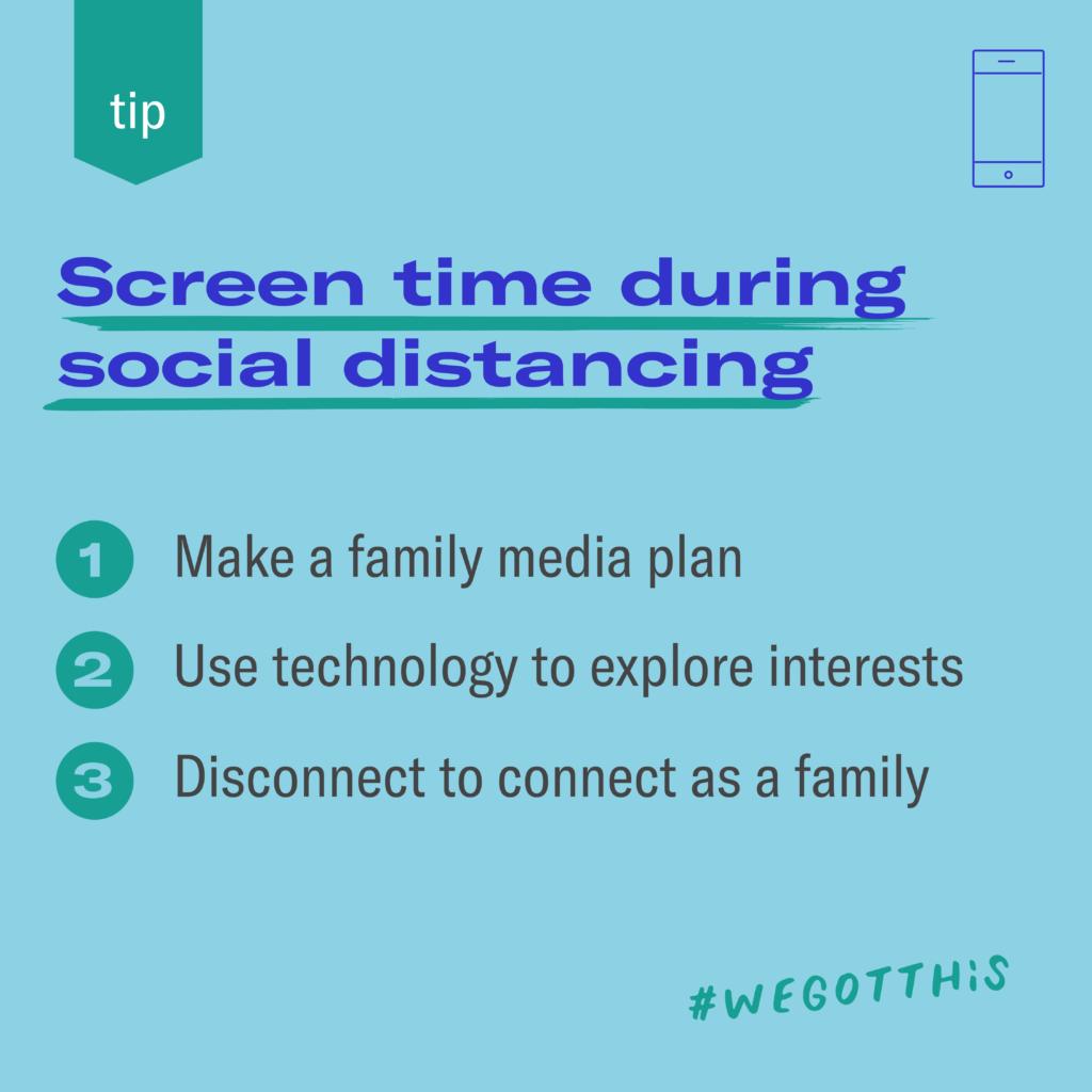 Screen timing during social distancing