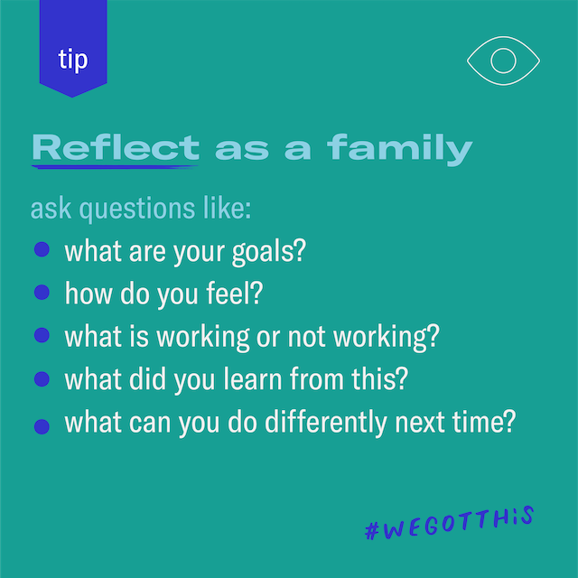 Reflect as a family