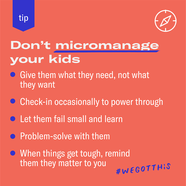 Featured image for Instead of micromanaging, let your kid manage