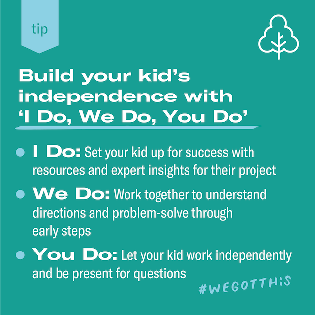 Featured image for Build your kid's independence with 'I Do, We Do, You Do'