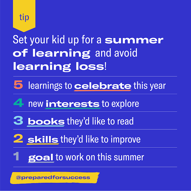 Summer scholar activity to end the school year strong with Prepared Parents
