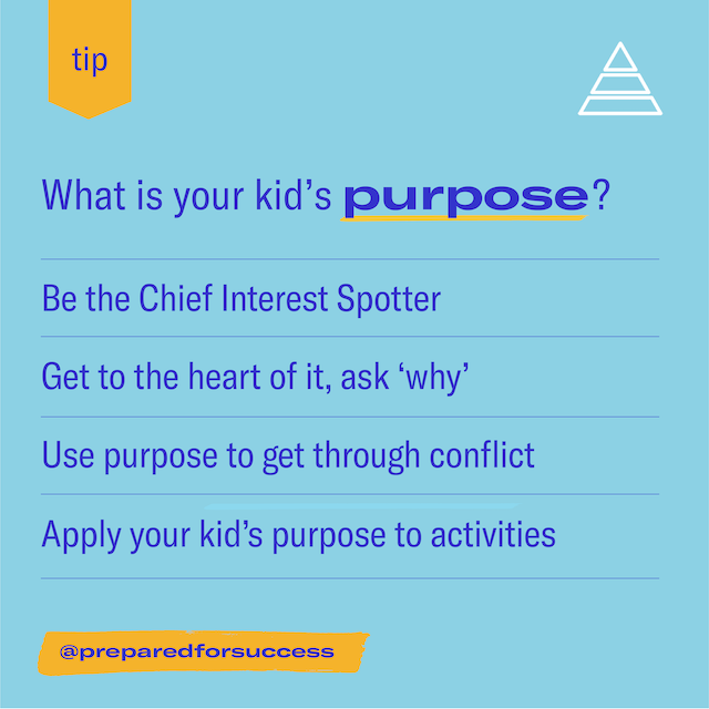 Finding your kid's purpose