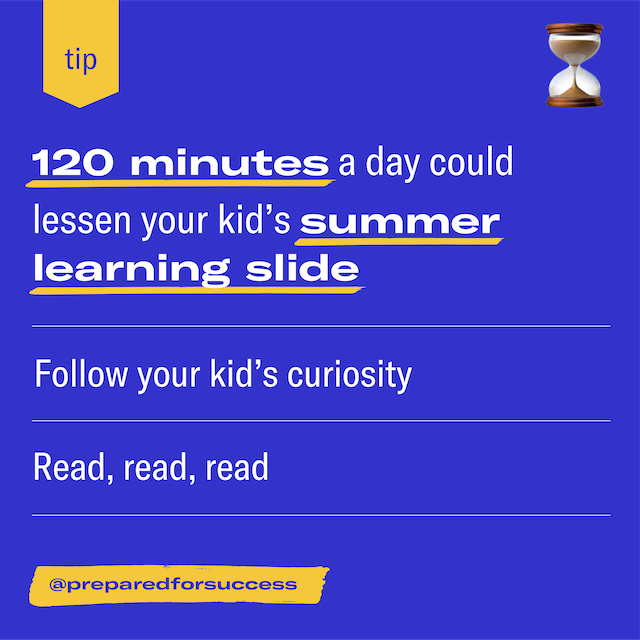 Featured image for Take 120 minutes a day to lessen the summer COVID-19 learning slide
